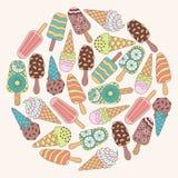 Elements ice cream. Stock Images