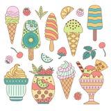 Elements ice cream. Royalty Free Stock Photography