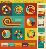 Elements and icons of infographics Royalty Free Stock Photography