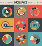 Elements and icons of infographics. Elements backgrounds and icons of infographics Royalty Free Stock Photos