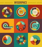Elements and icons of infographics. Elements backgrounds and icons of infographics Stock Photos