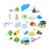 Elements icons set, cartoon style. Elements icons set. Cartoon set of 25 elements vector icons for web isolated on white background Royalty Free Stock Photo