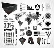 Elements of info graphics Royalty Free Stock Photos