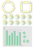 Elements for infografic design - diagrams, numbers, arrows Royalty Free Stock Image