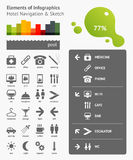 Elements of Infographics. With navigation in the hotel Stock Photography