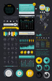 Elements of Infographics. With buttons and menus Royalty Free Stock Photo