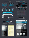 Elements of Infographics. With buttons and menus Royalty Free Stock Photos