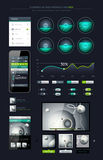 Elements of Infographics. With buttons and menus Royalty Free Stock Image