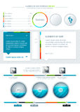 Elements of Infographics. With buttons and menus Stock Photography
