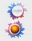 Elements of Infographics. With buttons and menus Stock Images