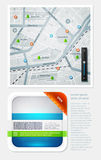 Elements of Infographics. With buttons and menus Royalty Free Stock Images