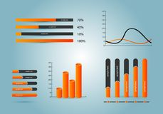 Elements of infographics. Vector illustration. Eps 10 Stock Photo