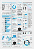 Elements of infographics with the aircraft royalty free illustration