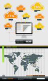 Elements of Infographics with buttons Stock Photography