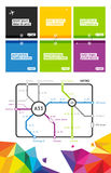 Elements of Infographics with buttons Royalty Free Stock Photo