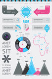 Elements of Infographics with buttons Royalty Free Stock Photos