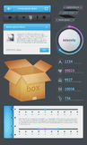 Elements of Infographics with buttons Royalty Free Stock Photography