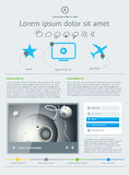 Elements of Infographics with buttons Stock Images
