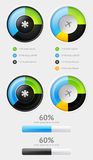 Elements of Infographics with buttons Stock Photos