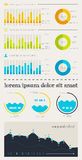 Elements of Infographics with buttons and menus Royalty Free Stock Photo