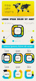 Elements of Infographics with buttons and menus.  Stock Photography