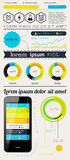 Elements of Infographics with buttons and menus.  Royalty Free Stock Photography