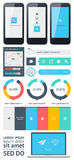 Elements of Infographics with buttons and menus Stock Photo