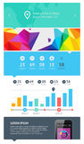 Elements of Infographics with buttons and menus Royalty Free Stock Images