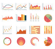 Elements for infographics, charts, graphs. flat Royalty Free Stock Photos