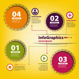 Elements for infographics with colored circles Royalty Free Stock Photo
