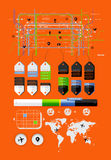 Elements of infographics and icons Royalty Free Stock Photography