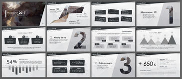 Powerpoint presentation template background. Use in presentation templates, flyer and leaflet, corporate report, marketing, advertising, annual report and Royalty Free Stock Images