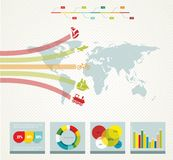 Elements of infographics Royalty Free Stock Images