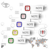 Elements of infographics with a map of the world Royalty Free Stock Photos