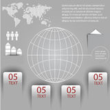 Elements of infographics with a map of the world Royalty Free Stock Image