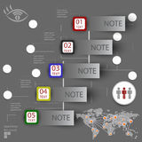 Elements of infographics with a map of the world Royalty Free Stock Photo