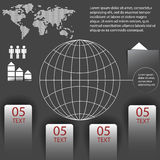 Elements of infographics with a map of the world Stock Photo