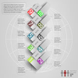 Elements of infographics with a map of the world Stock Photography