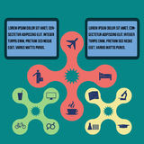 Elements of infographics, Modern Design Circle template Royalty Free Stock Photo
