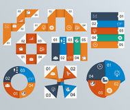 Elements of infographics, pie charts Royalty Free Stock Photo