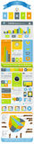 Elements of infographics on the plane Royalty Free Stock Photos