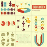 Elements of infographics for presentations Royalty Free Stock Photos
