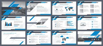 Elements of infographics for presentations templates Royalty Free Stock Photography