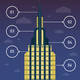 Elements of infographics with a skyscraper Royalty Free Stock Image
