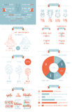 Elements of infographics and user interface Stock Image