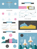 Elements of infographics and user interface Stock Photo