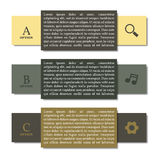 Elements of infographics, vector illustration. Royalty Free Stock Images