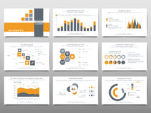 Elements for infographics on a white background. Presentation te Stock Photo