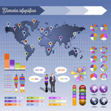 Elements for infography Stock Photography