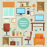 Elements of the interior cabinet Stock Images